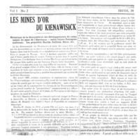 Les mines d'or du lac Kienawisick (de Montigny)