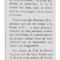Chronique musicale : la messe de minuit de 1919